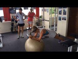 3 women in a gym....trouble!